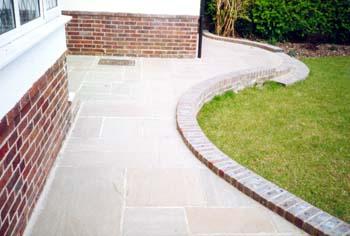 Stone Garden Wall >> Boulevard Landscapes | Our Work | Patios & Brickwork